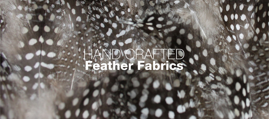 Buy hand-crafted feather fabrics from The Berwick Street Cloth Shop
